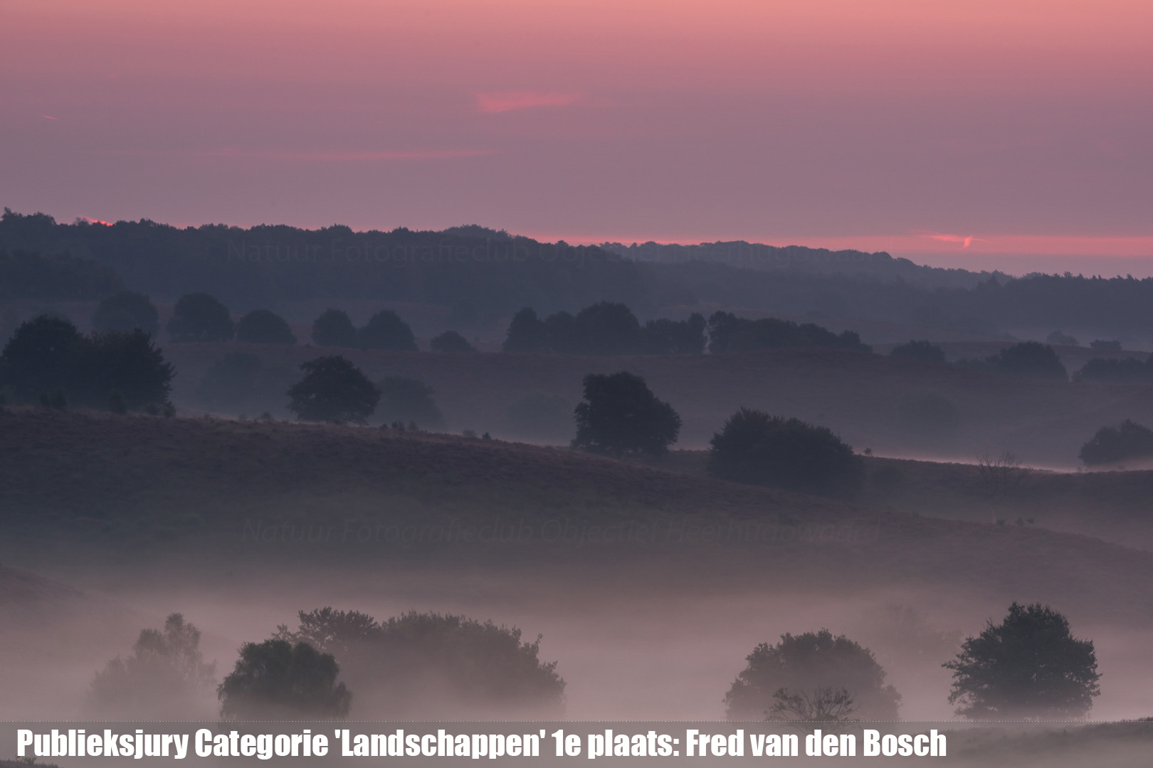 Publieksjury Categorie 'Landschappen' 1e plaats: Fred van den Bosch